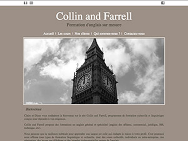 Collin and Farrell, formations en anglais